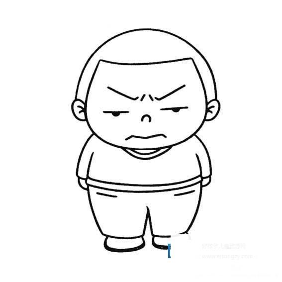 表情 生气的男孩简笔画,生气的男孩的简笔画画法 人物简笔画 ertongzy.com 表情