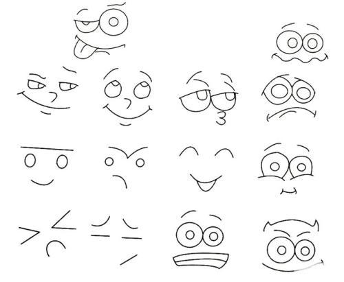 彼岸花简笔画步骤图解-表情 人物表情简笔画 日记表情 表情包简笔画