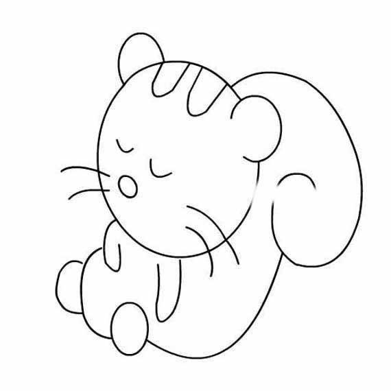 情 乖乖睡觉的小熊猫简笔画 育才简笔画 表情
