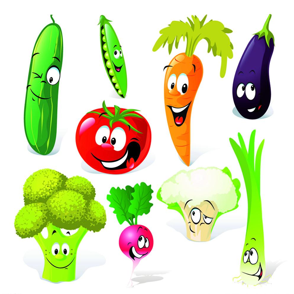 表情 蔬菜简笔画图片带颜色 食物简笔画 表情
