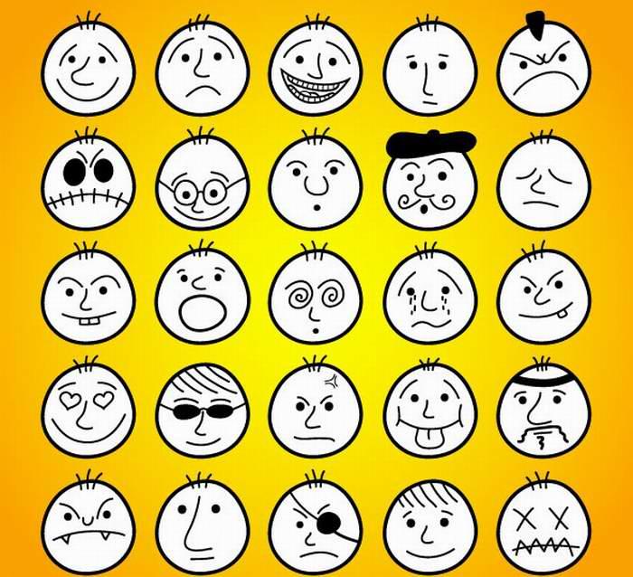 表情 人物表情简笔画 人物简笔画大全 美术必学课 表情