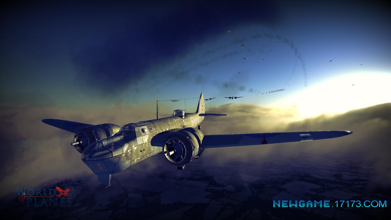 二战飞机游戏背景素材