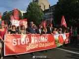 6000多人在布鲁塞尔抗议特朗普访欧