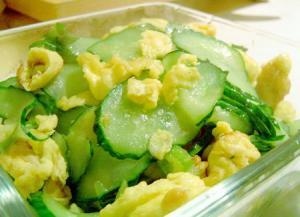 黄瓜炒鸡蛋怎么做?