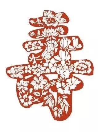 花型剪纸步骤图解