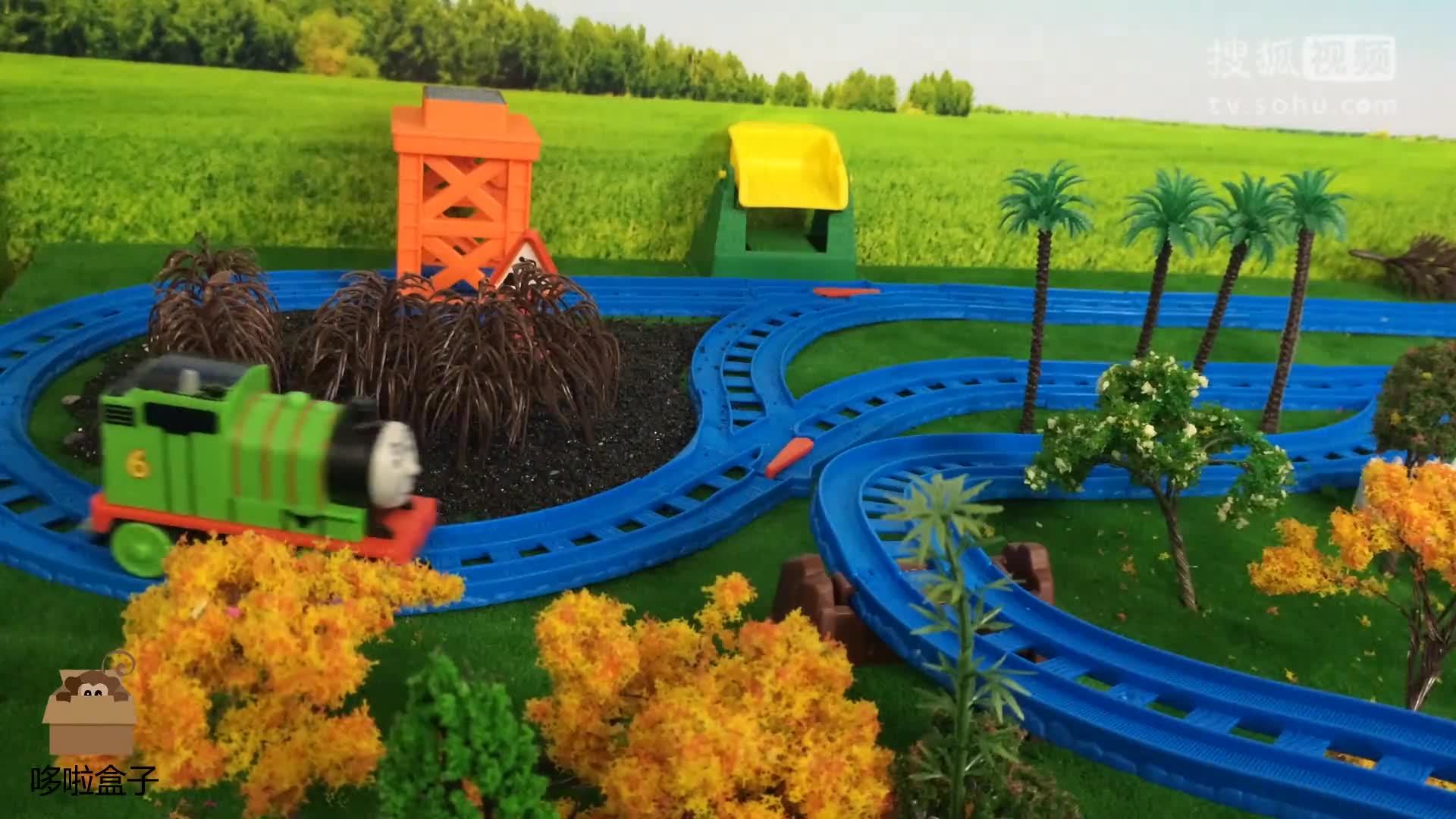托马斯和他的朋友们 培西拉海鲜车厢在多多岛游行展览 哆啦盒子动画