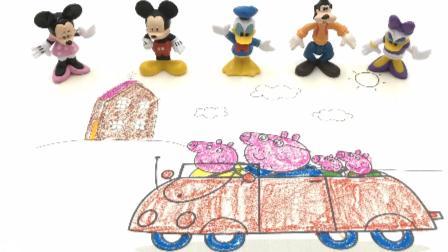 米奇和米妮 小猪佩奇 涂色画 19