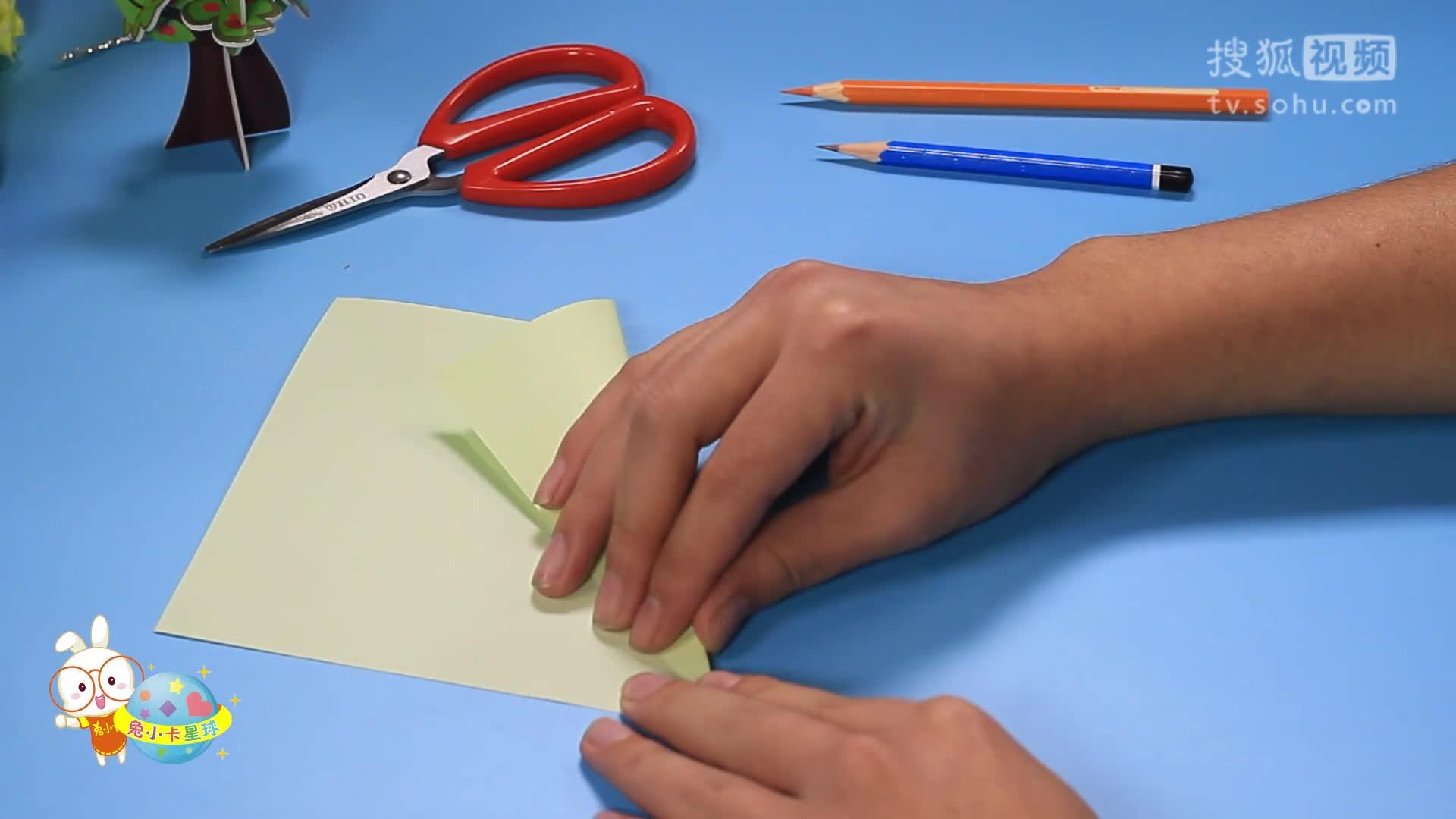 创意手工折纸diy教程高大又温驯的长颈鹿-小卡手工课