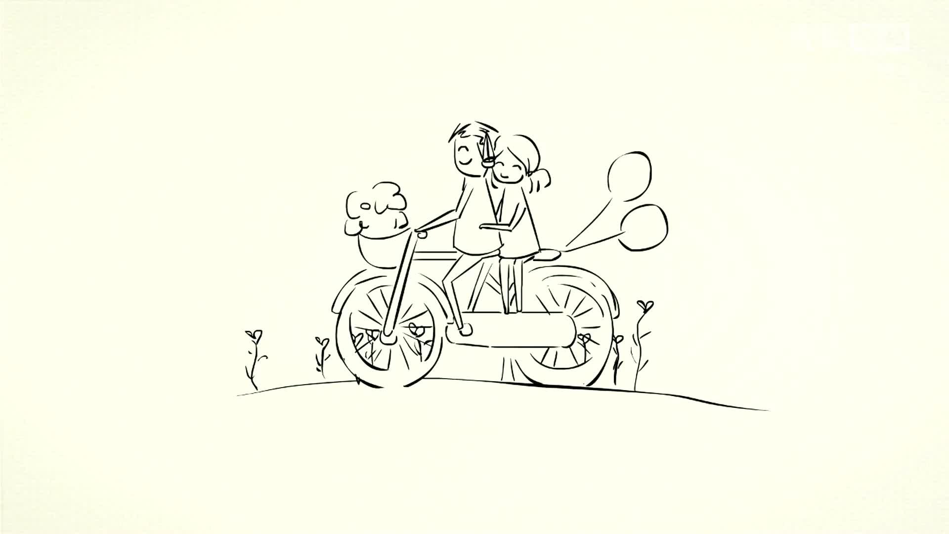 简笔画 手绘 线稿 1920 1080