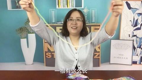"""试吃""""五彩绳子糖"""""""