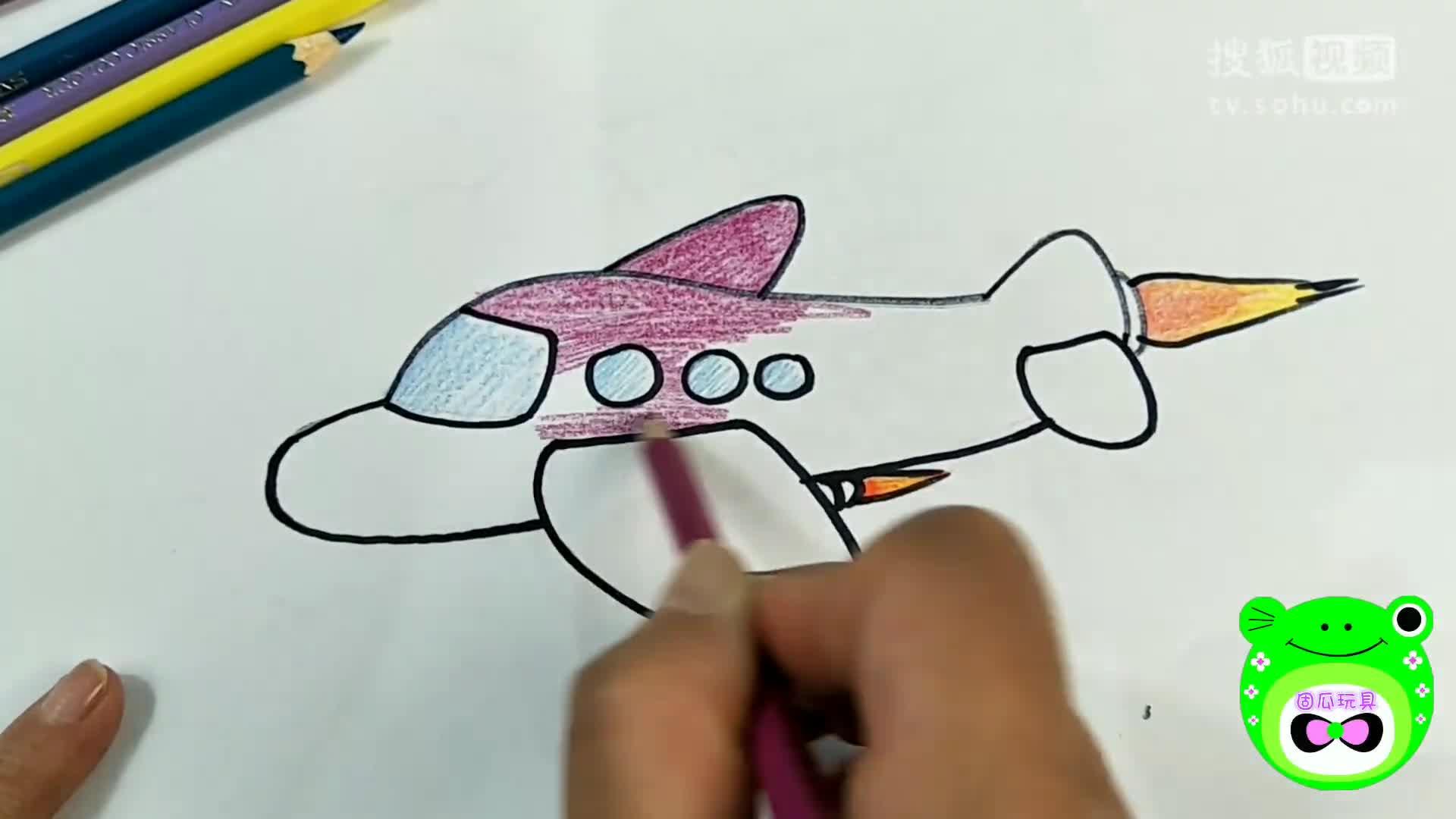 飞机画画图片大全大图