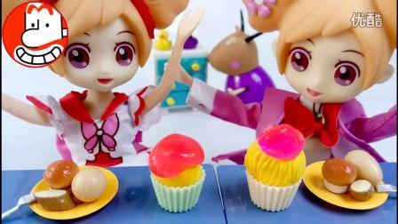 小花仙芭比娃娃的鼻涕彩泥蛋糕 爱闹大叔 小马宝莉小猪佩奇超级飞侠