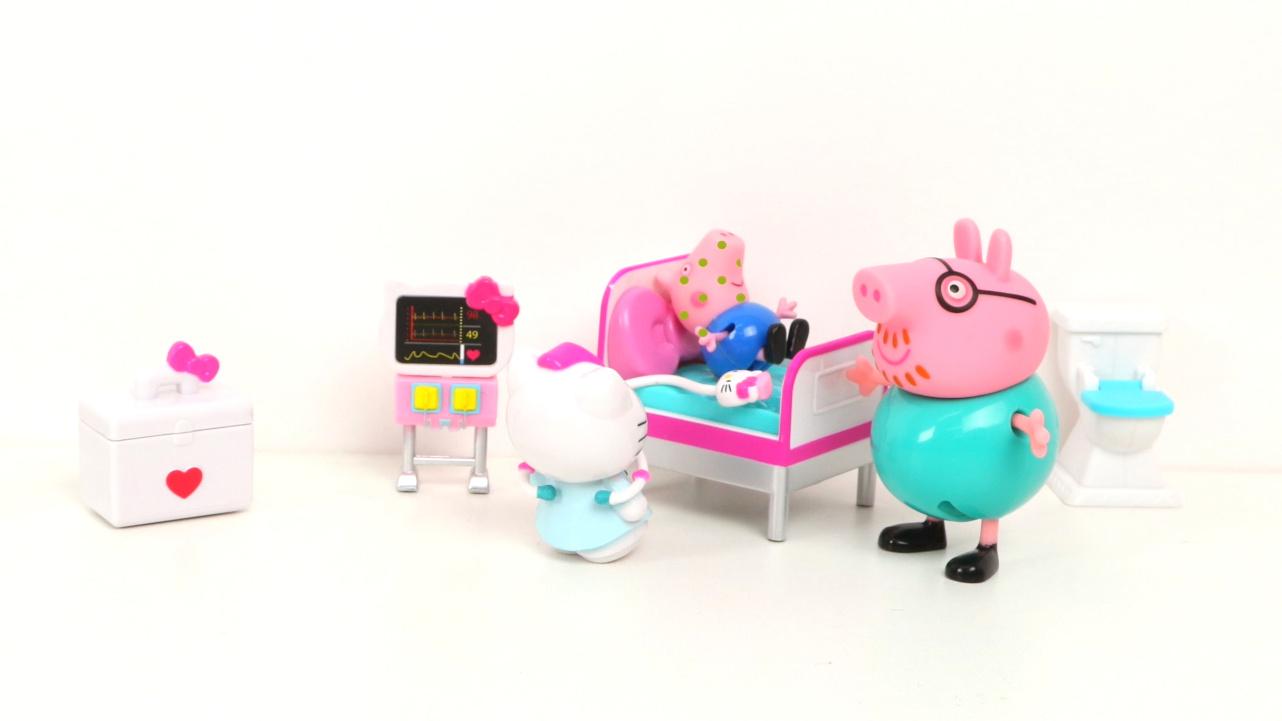 小猪佩奇乔治生病去医院 粉红猪小妹玩具故事