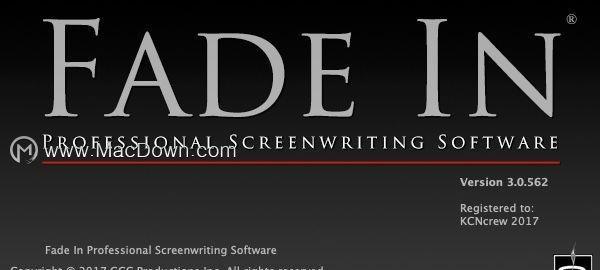dnf私服d币修改地址Fade In Pro for Mac(剧本小说编辑软件)