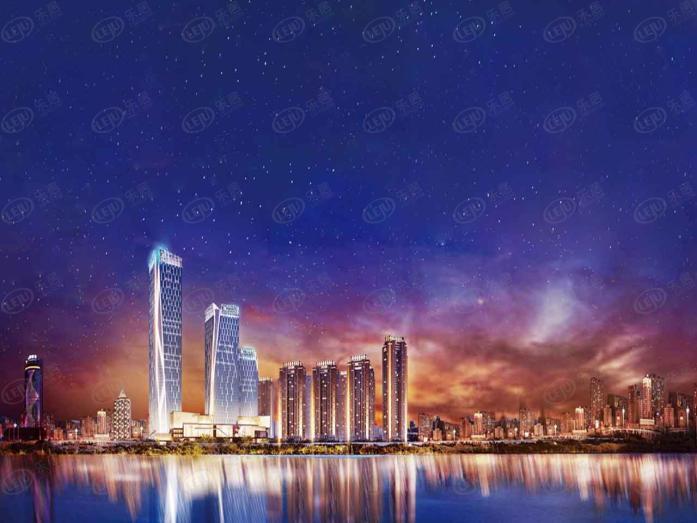 富力江灣新城在售建面215 – 435㎡精裝住宅