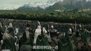半兽人被击败 全部灰溜溜的退回树林里