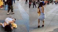 男子穿纸牌超短裙在外耀武扬威 结果被路人打爆了头