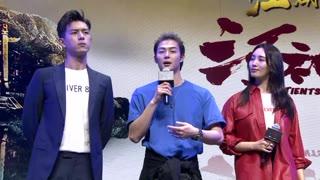 《河神》庆功会 主演互动游戏