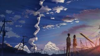 好有爱的一幕 两人憧憬着远方