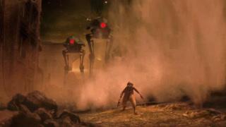 人类和机器人的混战