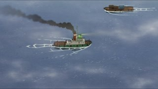 风间俊乘船路过阿海家 阿海还是依旧每日升起旗帜