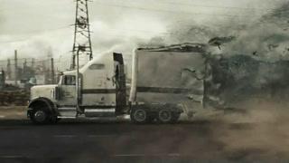 外星武器瞬间吞噬重型卡车