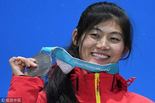 单板滑雪女子U型场地颁奖仪式