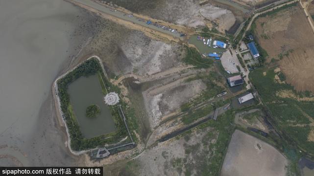 江蘇洪澤湖旱情嚴重 創十年來低水位