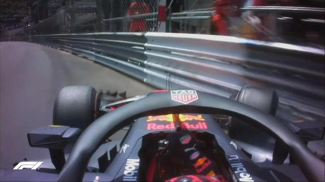 F1摩纳哥站FP3维斯塔潘上墙