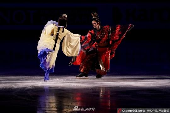 花滑世錦賽開幕盛典 日本風格濃郁