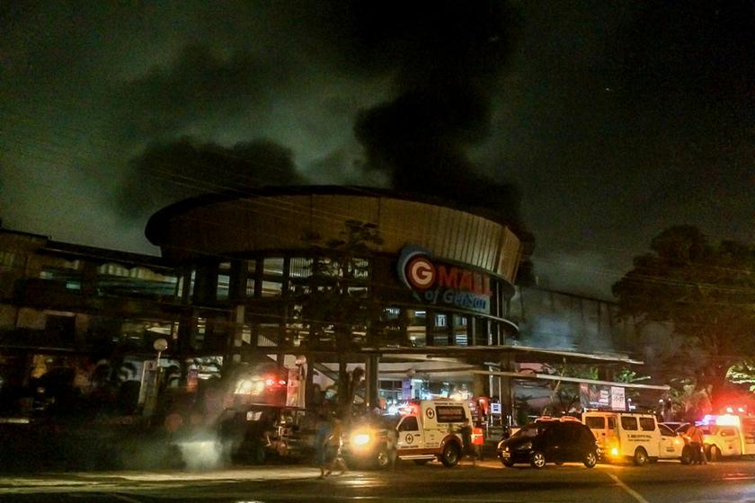 搜狗图片-share555菲律宾南部发生6.3级地动 本地一阛阓震后起火(2)