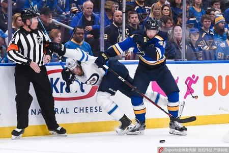 NHL季后赛蓝调3-6喷气机