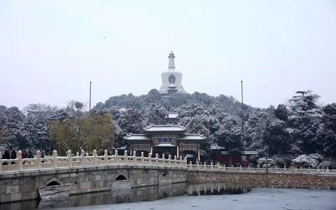北京30万游客雪后公园打卡