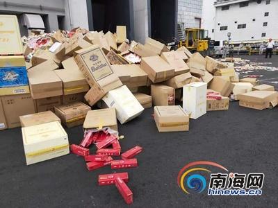 海南集中焚烧2117万支假烟 可直接发电约1.5万度