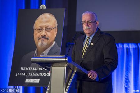 美国政客在华盛顿为卡舒吉举行追悼会