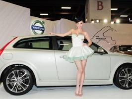 Volvo车展极品长腿车模