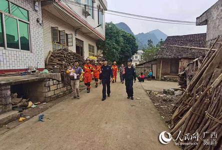 广西百色市靖西市地震 百色边境管理支队迅速开展灾情排查