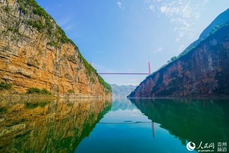 9月28日,乌江源百里画廊水上旅游线路正式起航运营