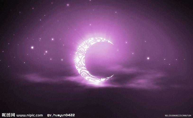 月亮背景设计图图片
