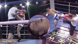 咏春高手挑战散打冠军 被打断肋骨晕厥倒地不起