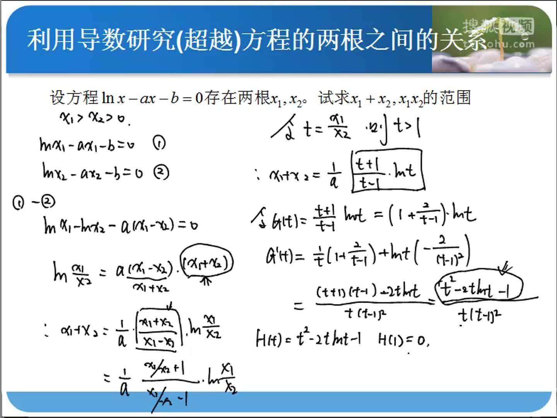 S222-利用导数研究方程根的和与积-有声音