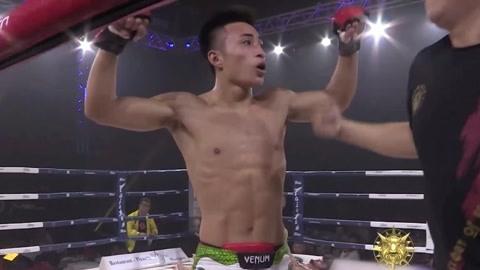勇士的荣耀男子羽量级排位赛 王纪征组合拳TKO瓦斯克斯