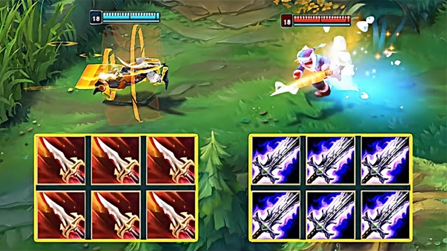 LOL 血色之刃剑圣 vs 破败剑圣,两件装备到底会是谁碾压谁?