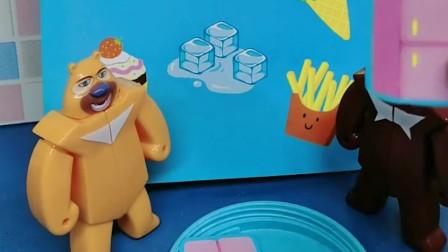 熊二把雪糕放在冰箱里,冰淇淋也放冰箱里面,还有什么可以放在冰箱