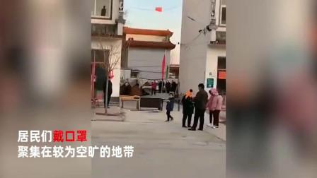 监控实拍!山东济南发生地震:居民戴口罩下楼