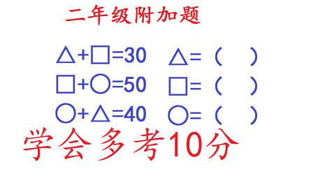 二年级数学图形题,这道题从一年级考到六年级!学会多考10分